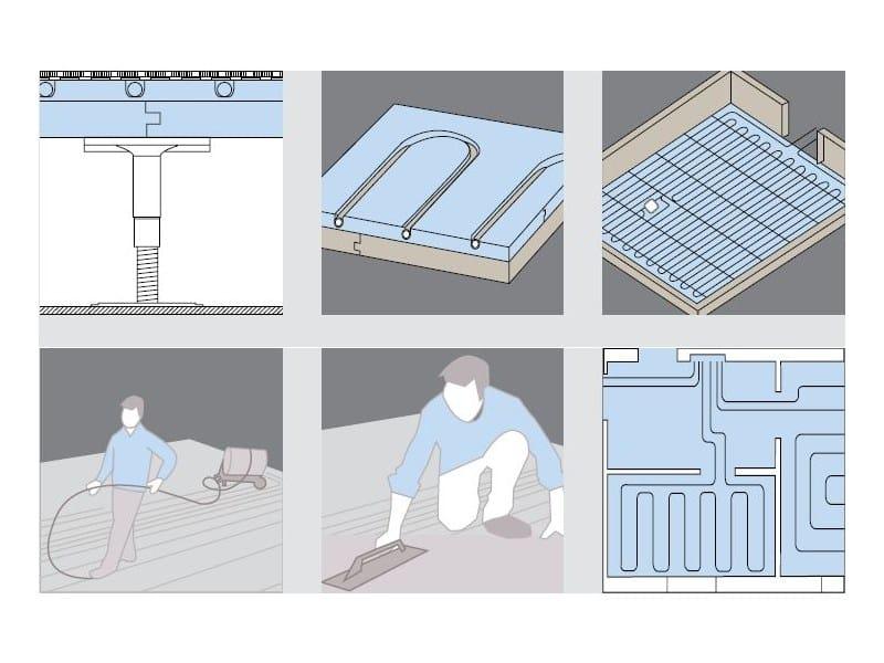 Gypsum fiber Radiant floor panel GIFAFLOOR® FHBPLUS KLIMA F183 by Knauf Italia