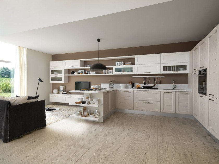 CLAUDIA | Wooden kitchen By Cucine Lube design Studio Ferriani