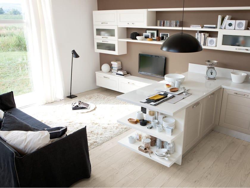 Cucina in frassino con maniglie CLAUDIA | Cucina in legno ...