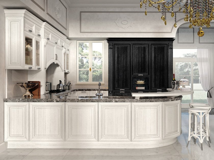 Decapé kitchen with handles PANTHEON | Kitchen by Cucine Lube