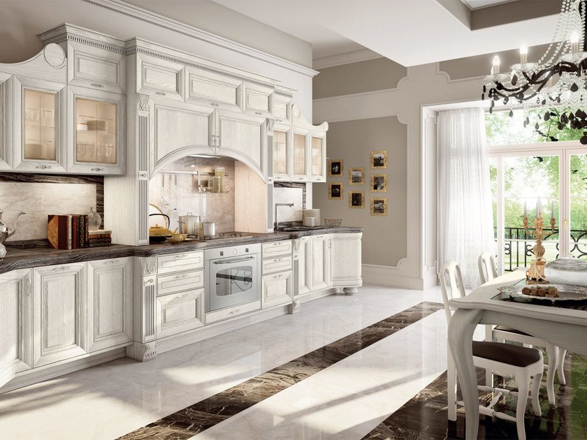 Decapé kitchen with handles PANTHEON | Lacquered kitchen by Cucine Lube