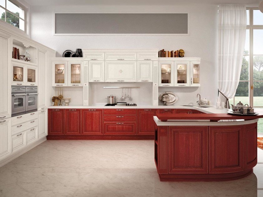 Decapé kitchen with handles PANTHEON | Kitchen with handles by Cucine Lube