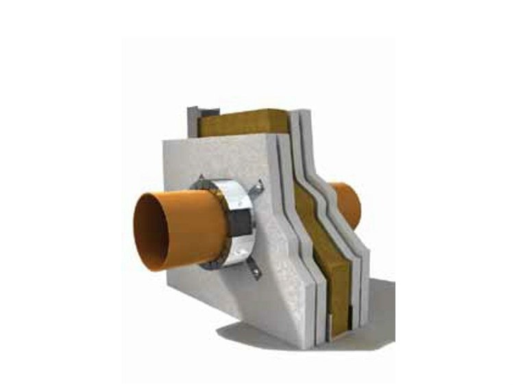 System to protect against fire penetration F-COLLAR® by Knauf Italia