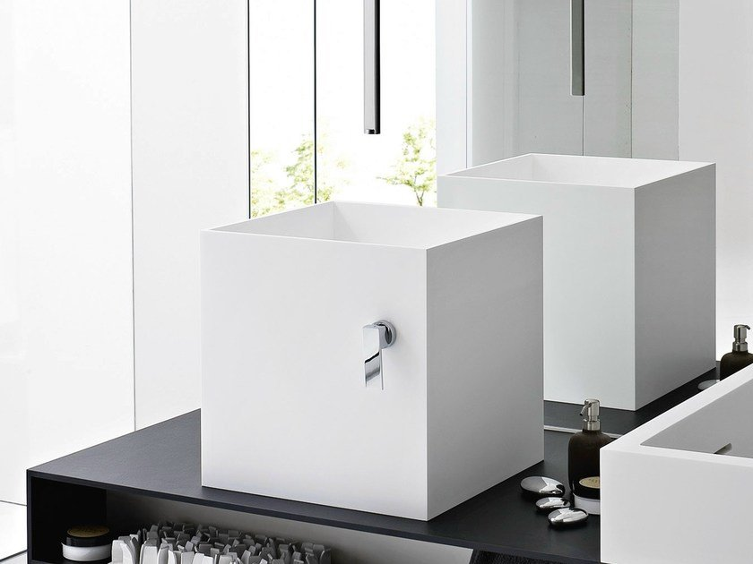 Countertop Corian® washbasin UNICO | Countertop washbasin by Rexa Design