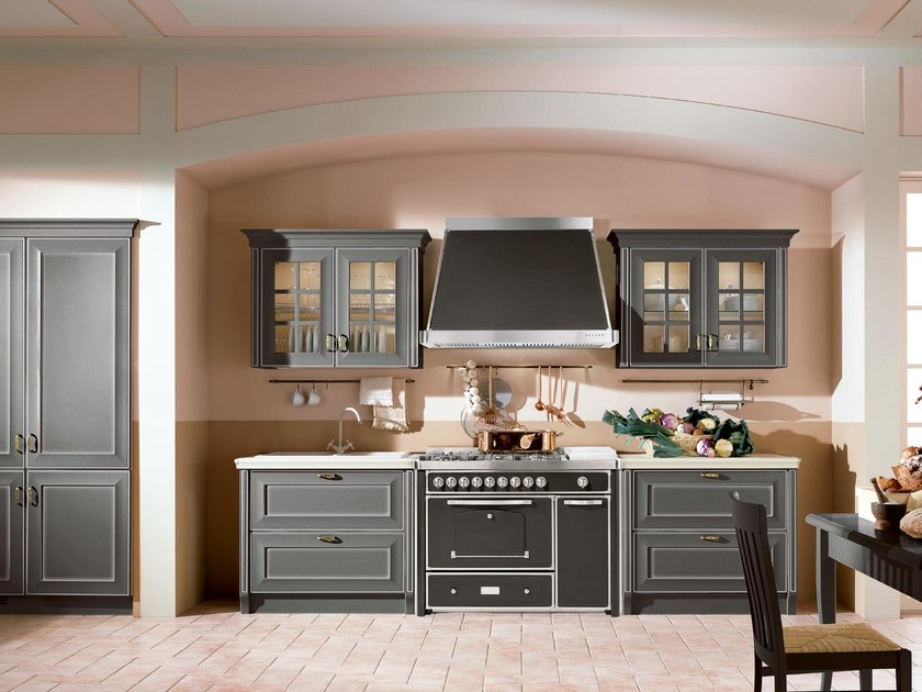 Lacquered wooden kitchen VELIA LACCATA | Lacquered kitchen by Cucine Lube