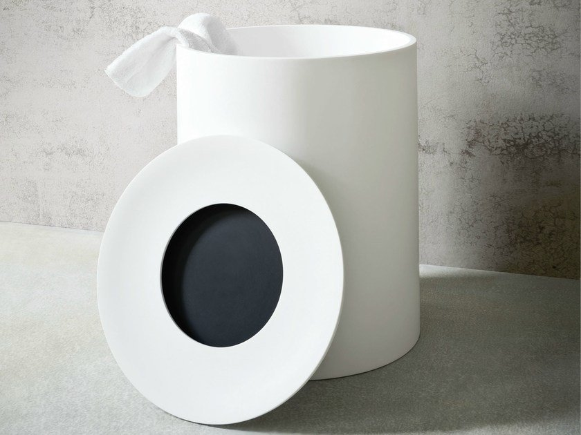 Corian® laundry container HOLE | Laundry container by Rexa Design