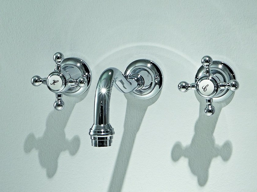 3 hole wall-mounted washbasin tap AGORÀ | Wall-mounted washbasin tap by ZUCCHETTI