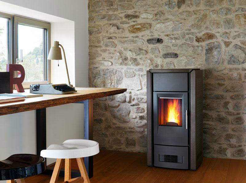 Pellet stove for air heating P958 D | Pellet stove by Piazzetta