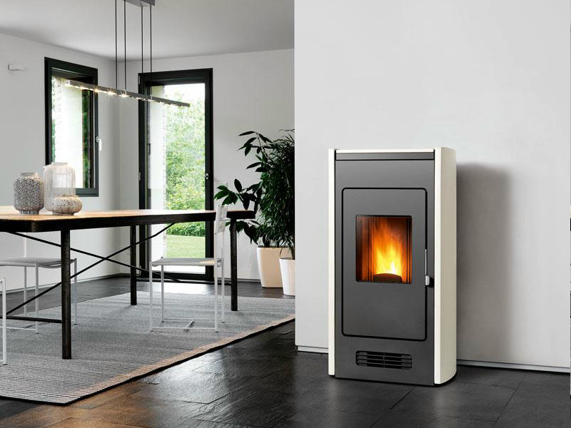 Pellet stove for air heating P959 | Pellet stove by Piazzetta