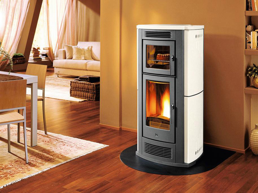 Pellet stove for air heating P960 F | Pellet stove by Piazzetta
