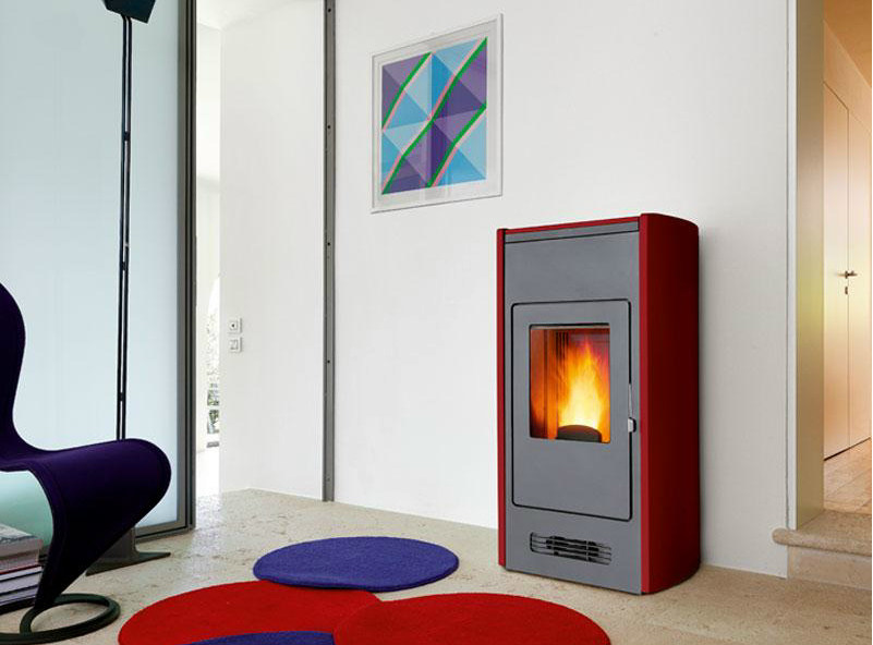 Pellet stove for air heating P964 | Pellet stove by Piazzetta