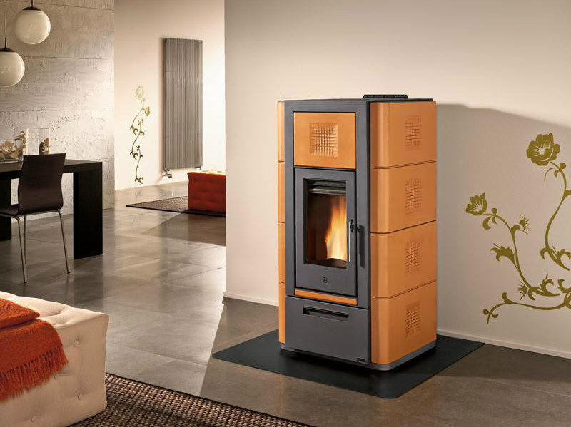 Pellet Heating stove P965 M THERMO | Heating stove by Piazzetta