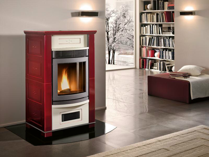 Pellet stove for air heating GINEVRA by Piazzetta