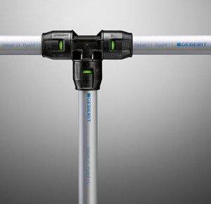 Pipe and special part for water network / Pipes for heating system PushFit by Geberit Italia