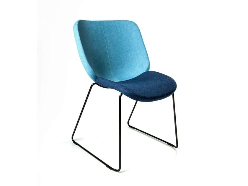 Sled base upholstered chair DRESSCODE by Johanson Design