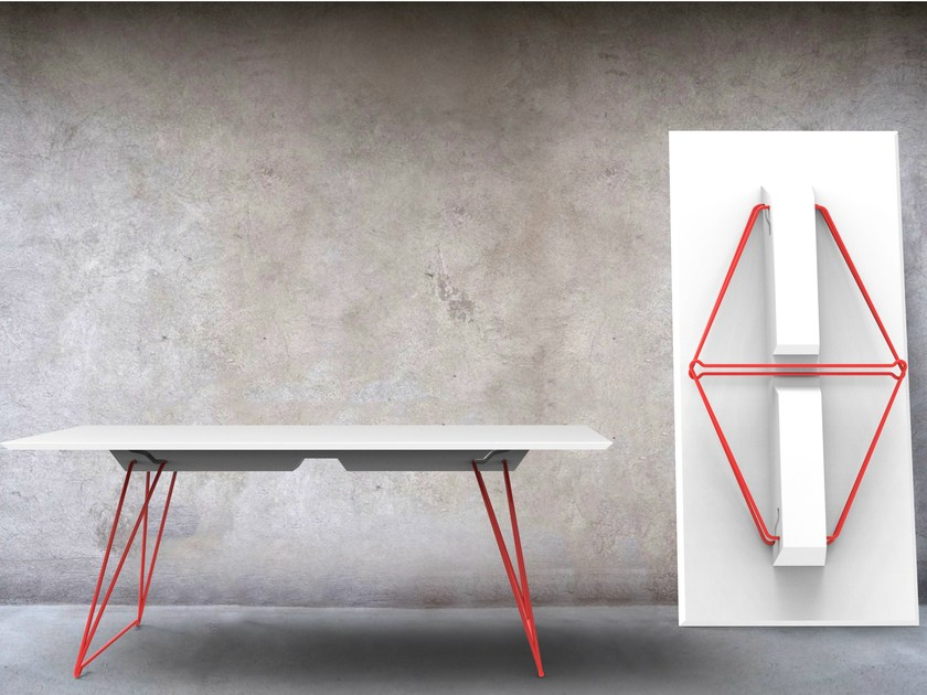 Stackable folding table LUCY by Johanson Design