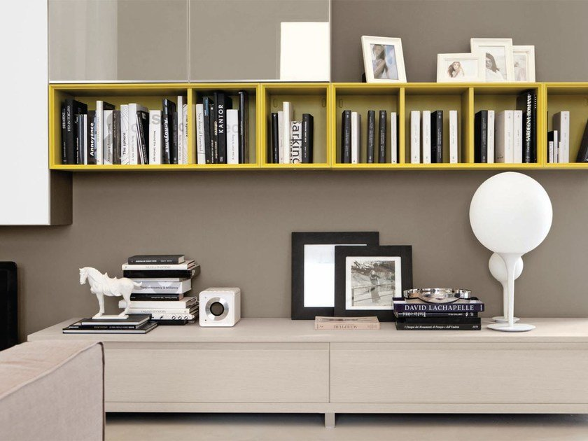 LINDA | Sectional storage wall By Cucine Lube