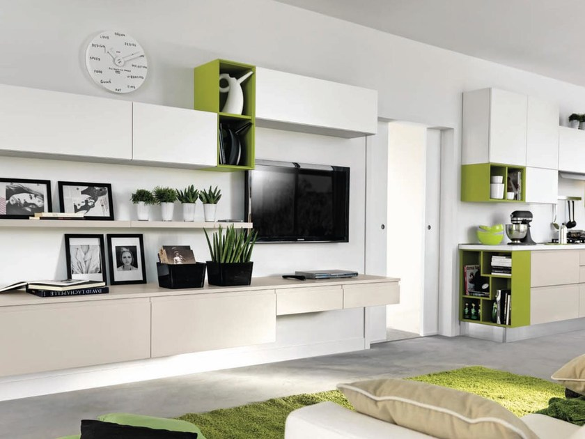 LINDA | Storage wall By Cucine Lube