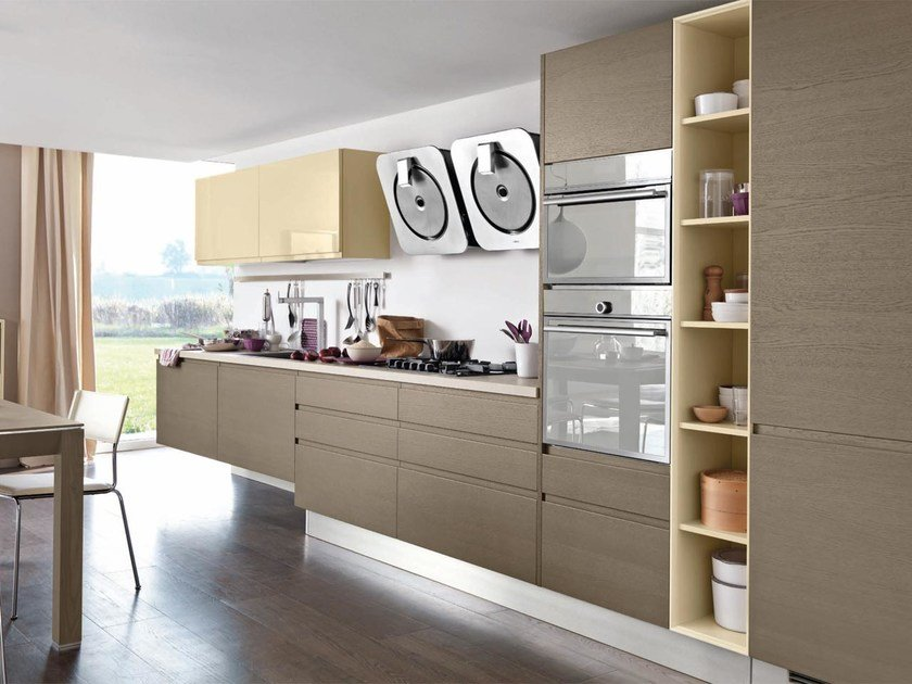 Wooden fitted kitchen LINDA | Wooden kitchen by Cucine Lube