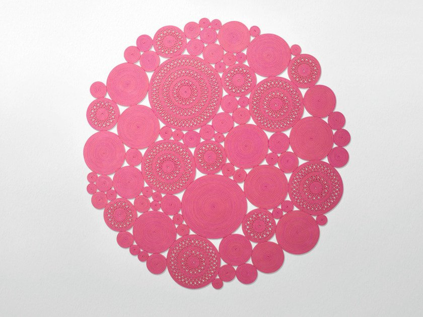 Solid-color handmade rug COSMO by paola lenti