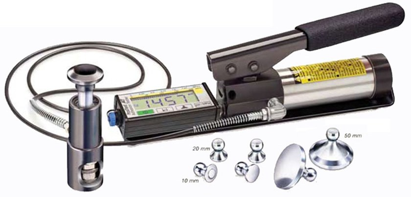 Instrumentation for adhesion tests