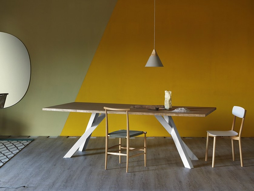 Rectangular table GUSTAVE | Oak table by Miniforms