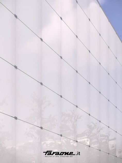 Point-fixed glass facade VETRISSIMO N by FARAONE