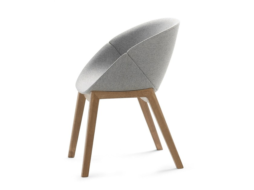 Ergonomic polyurethane chair COQUILLE-L by DOMITALIA