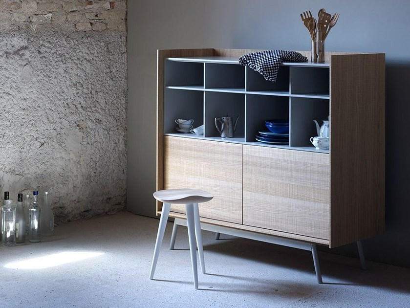 Lacquered highboard with doors EDGE | Highboard by Miniforms