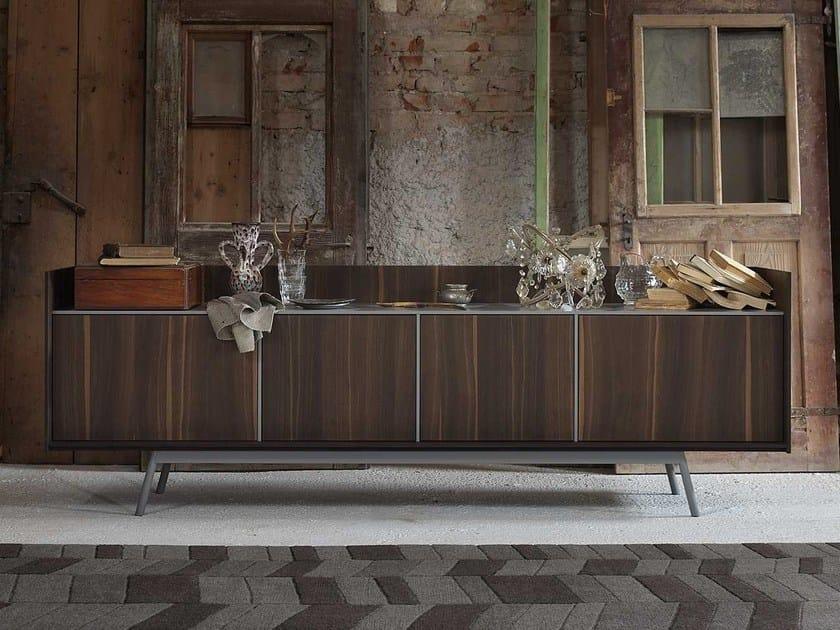Oak sideboard with doors EDGE | Sideboard by Miniforms