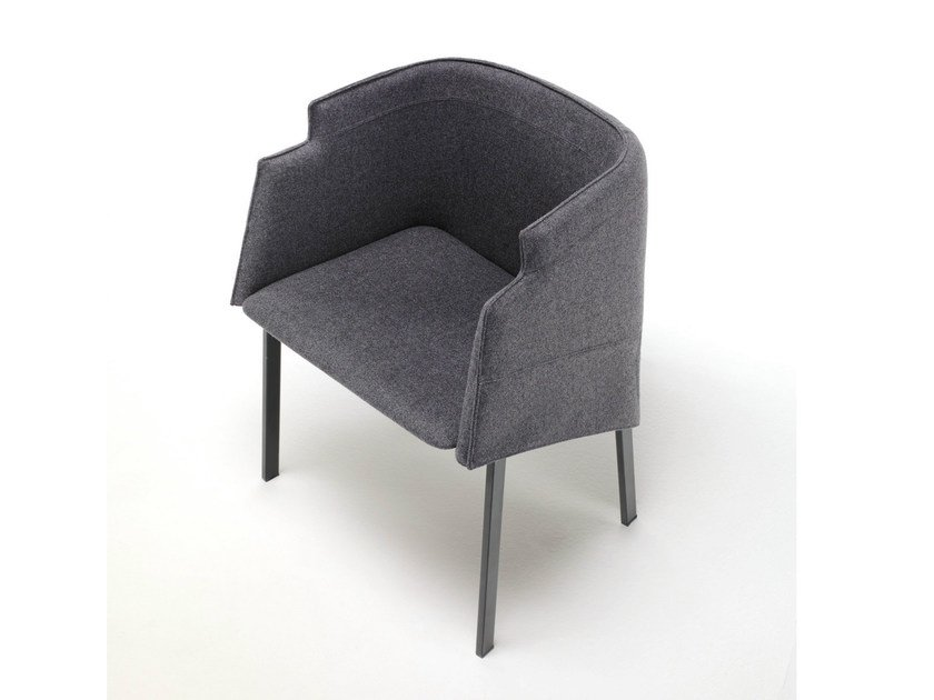 Upholstered fabric chair with armrests MANDARIN GRACE by Living Divani
