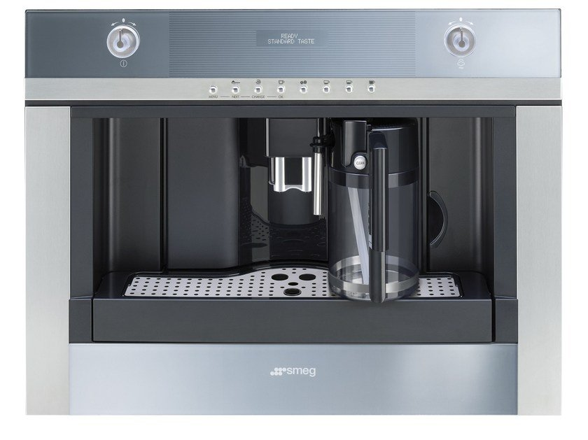 Built-in stainless steel coffee machine CMSC451 | Built-in coffee machine by Smeg