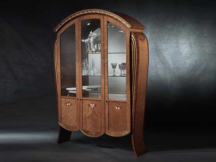 Gold leaf display cabinet VANITY | Display cabinet by Carpanelli Classic