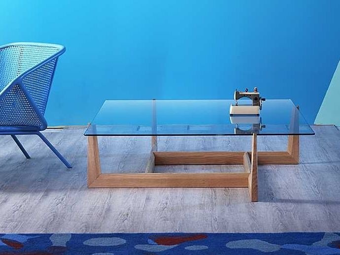 Low glass coffee table GAUDO   Square coffee table by Miniforms