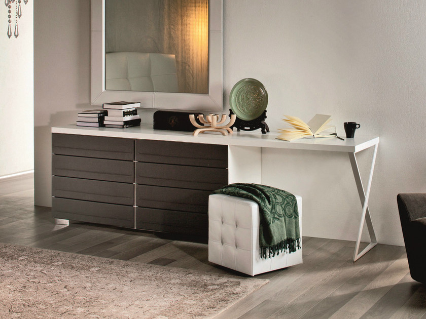 Wooden chest of drawers DYNO DESK by Cattelan Italia