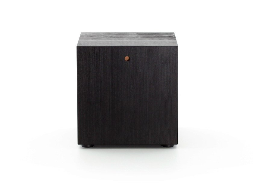 Square wooden bedside table OFFSHORE | Bedside table by Porro