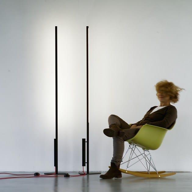 LED direct-indirect light floor lamp COLIBRÌ   Direct-indirect light floor lamp by Martinelli Luce