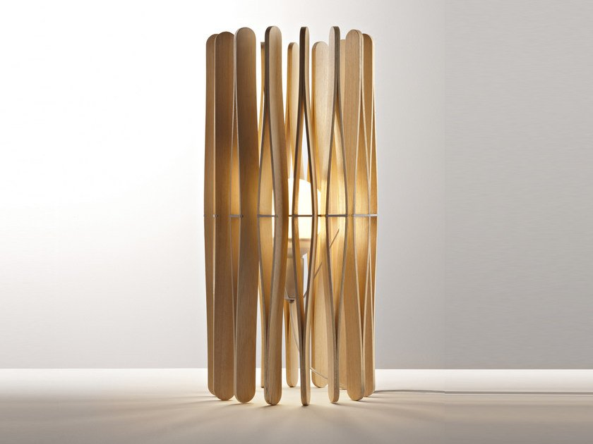 Wooden table lamp STICK | Table lamp by Fabbian