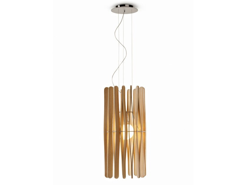 Wooden pendant lamp STICK | Pendant lamp by Fabbian