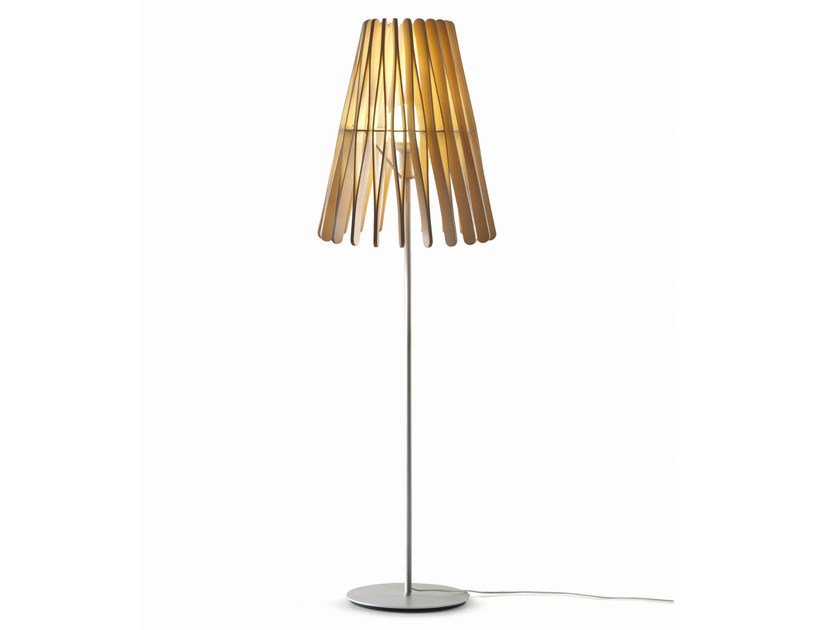 Wooden floor lamp STICK | Floor lamp by Fabbian