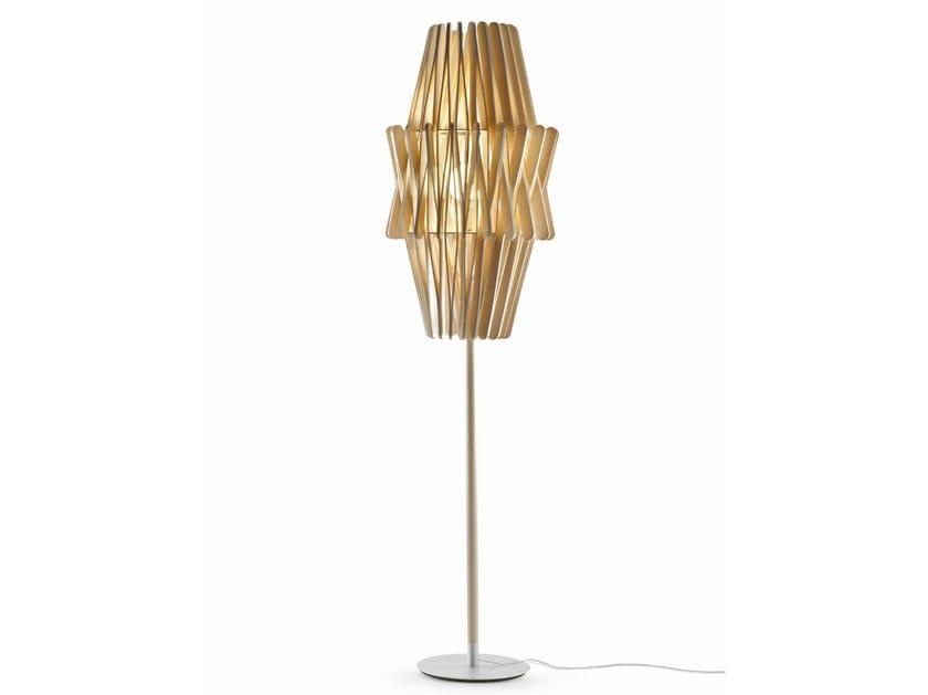 Wooden floor lamp STICK | Floor lamp by Fabbian