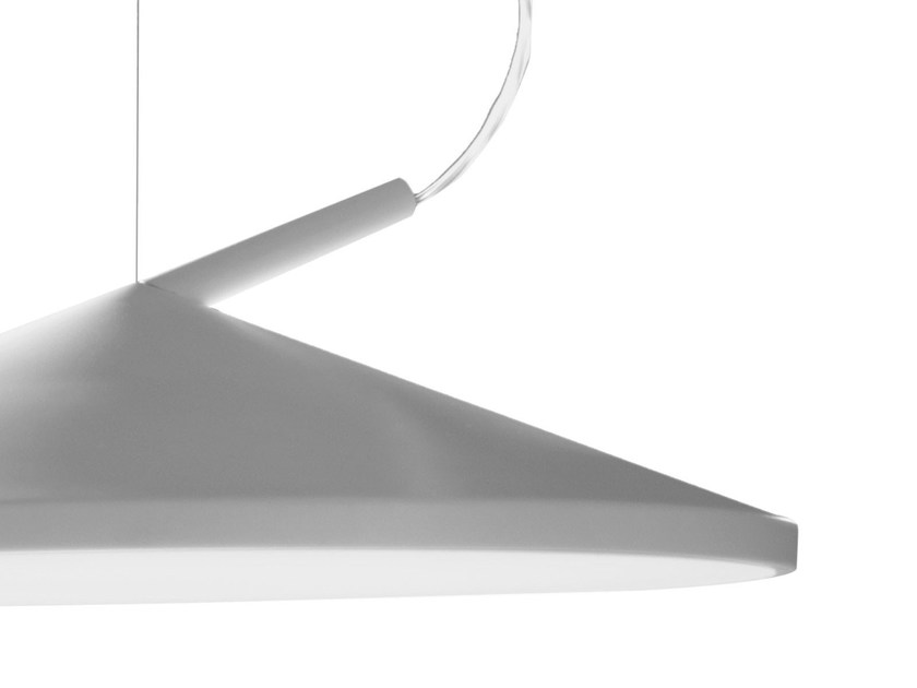 Direct-indirect light pendant lamp CONE by Martinelli Luce