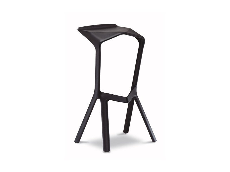 High stackable polypropylene stool MIURA | Stackable stool by Plank