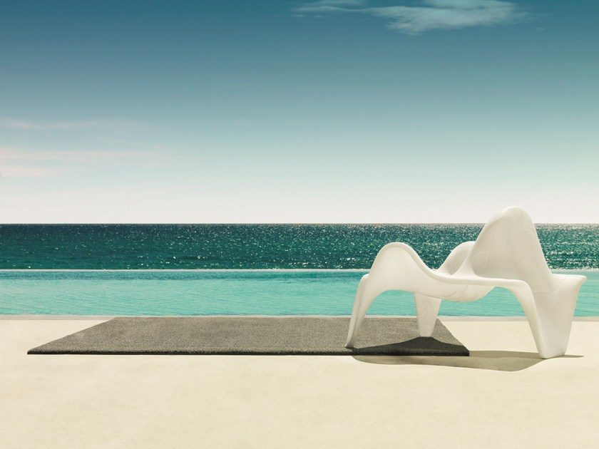 Solid-Color Rectangular outdoor rug LISA by VONDOM
