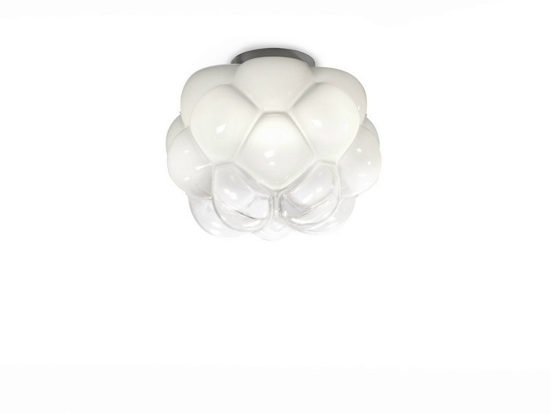 Glass ceiling light CLOUDY | Ceiling light by Fabbian