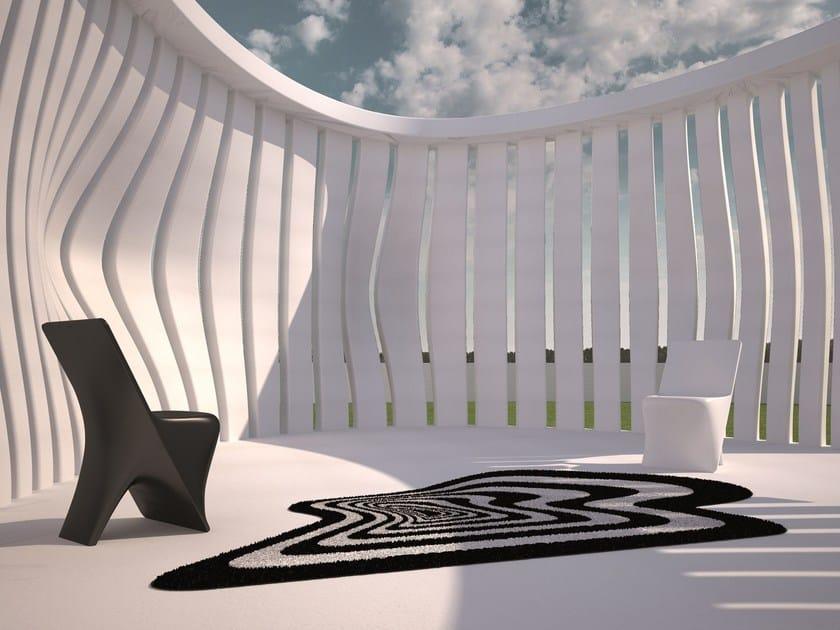 Outdoor rug with Optical Pattern TWIST & SHOUT by VONDOM
