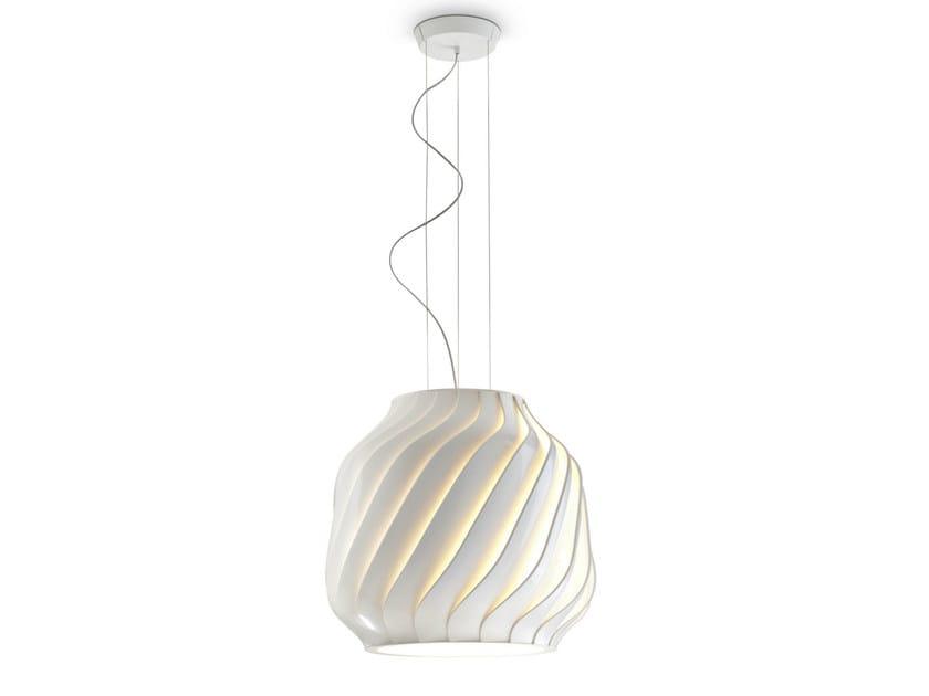 Polycarbonate pendant lamp LAMAS   Pendant lamp by Fabbian