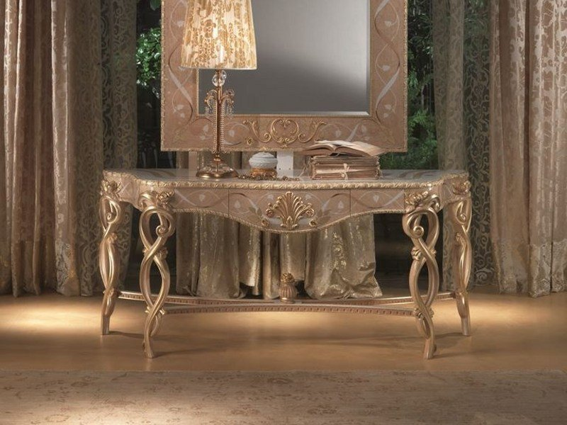 Wooden console table with drawers VANITY | Console table by Carpanelli Classic
