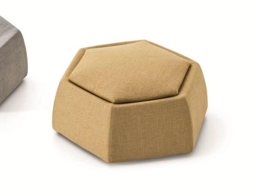 Storage upholstered pouf HONEY by Saba Italia
