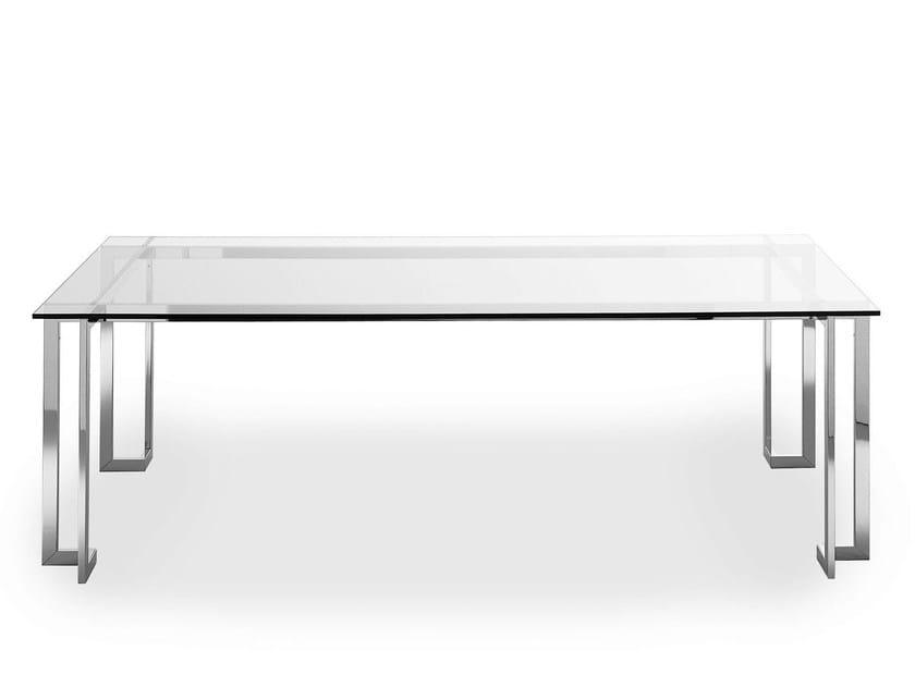 Rectangular crystal meeting table LORD XL by Gallotti&Radice